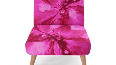 Occasional Chair, Pink 'Angry Sky' Collection