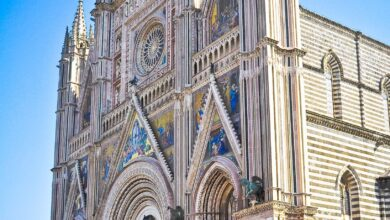 Orvieto Cathedral of Italy - 5 x 7 / Colored