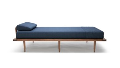 Oslo Daybed | walnut sleeper - indigo