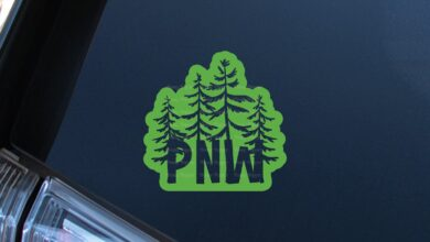 PNW Pines Decal - 5 - Gold / Glossy