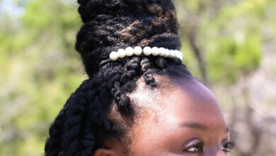 Pearl Afro Puff Holder