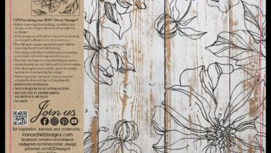 Peonies Two-Page Stamp