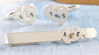 Personalised Foot Print Tie Clip. New Dad Gift