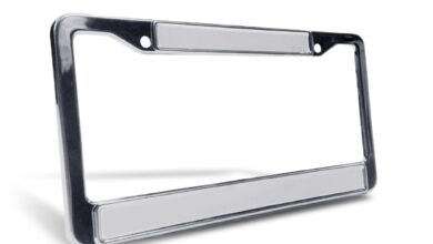 Personalized License Plate Frame - Silver Chrome / With Bolts/Bolt Covers