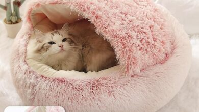 Pet Round Bed - Pink / 40x40cm