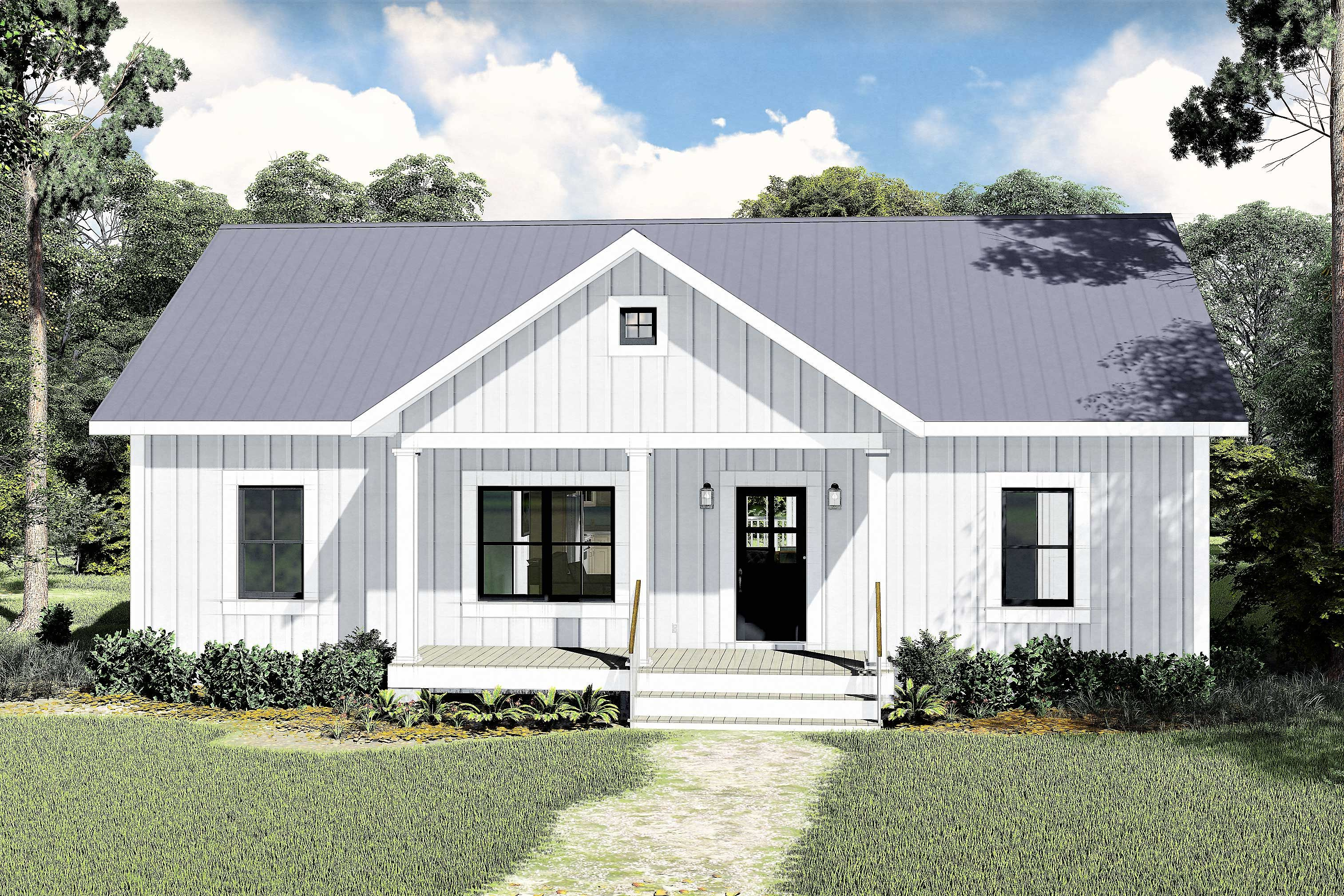 Plan 25008DH: 3-Bed Ranch Home Plan with Split Bedrooms