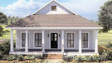 Plan 25013DH: Cottage with 8'-Deep Front and Back Porches