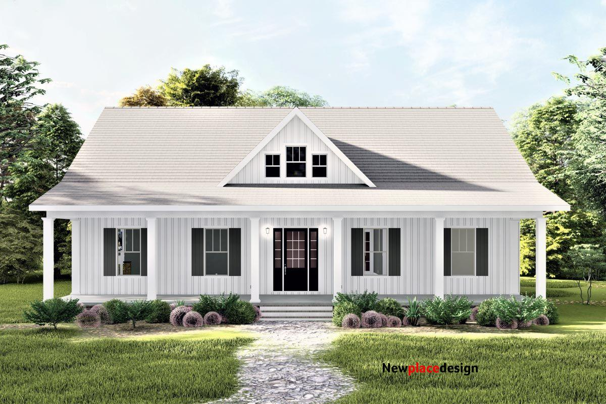 Plan 25026DH: Compact 3-Bed One-Story Home Plan with Decorative Gable