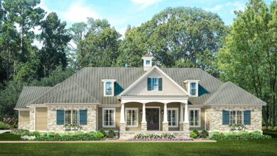 Plan 62134V: Ranch Home Plan with Poolhouse
