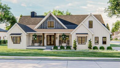 Plan 62867DJ: Exclusive Modern Farmhouse Plan with Fantastic Master Suite