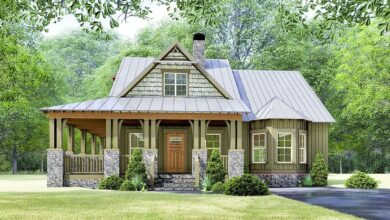 Plan 70630MK: Rustic Cottage House Plan with Wraparound Porch