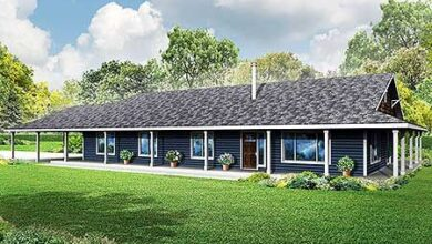 Plan 72772DA: 3 Bed Country Ranch With Wraparound Porch
