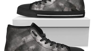 Plaster Men's High Tops - Mens High Top - Black - Plaster / US7 (EU40)