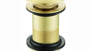 Pop up basin waste round unslotted - brushed brass