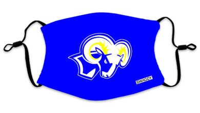 Ramsey Rams Blue Face Mask - Adult