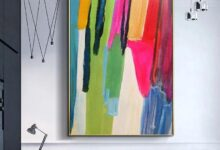 Rays of Colours - 39x59 / 100x150cm / White