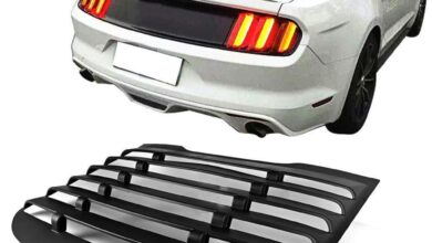 Rear Window Louvers Vintage Style for 2015 - 2020 Ford Mustangs