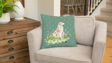 Red Merle Australian Shepherd Square Throw Pillow Cover, Gift for Dog Lovers - 22x22 / green dot / Velveteen