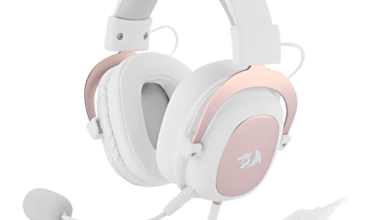 Redragon H510 Zeus Wired Game Headphone - 7.1 Surround Stereo - Memory Foam Ear Pad Removable Microphone For PC/PS4 and Xbox One - White