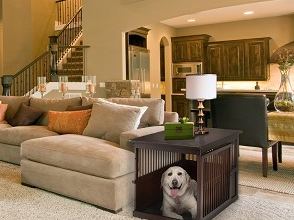 Richell Dog Crate End Table - Medium