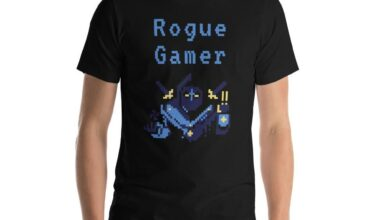 Rogue Gamer T-Shirt - Black / L