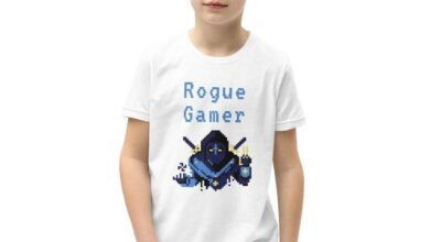Rogue Gamer Youth Short Sleeve T-Shirt - White / S