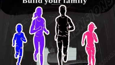 Running Family Car Decal figure Digital Cut files Silhouette Cameo svg jpg dxf design for iron on heat transfer decal vinyl  window