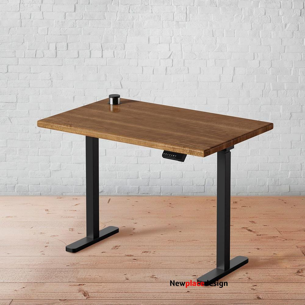 Rustic Walnut Solid Wood Stand Up Desk
