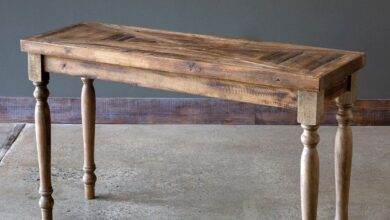 Rustic Wood Console Table