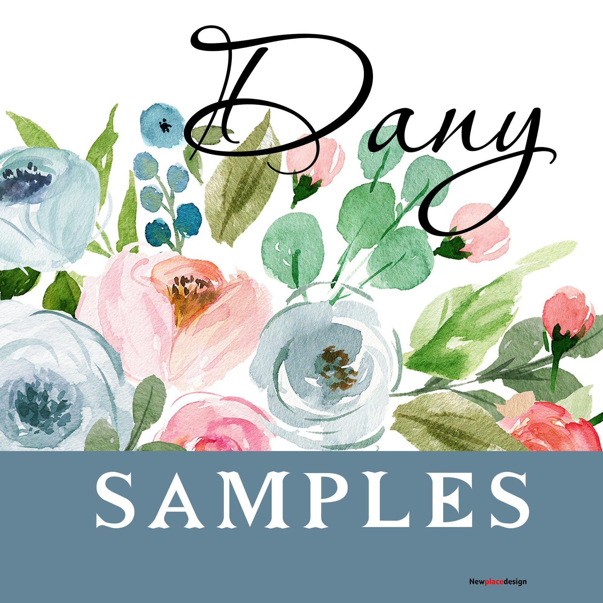 SAMPLES DANY Watercolor Wall Decals - Border Frame