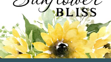 SAMPLES Sunflower Bliss Watercolor Wall Decals - Border Frame