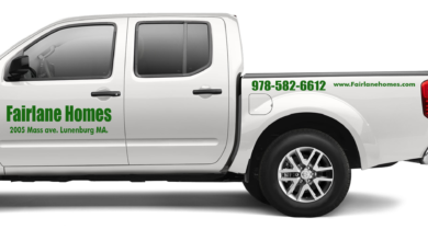 - SET OF 2 - Pickup Truck Crew Cab Vinyl Decal Custom Lettering Graphic Sign - White