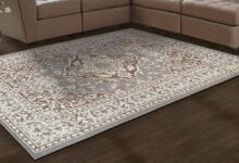 SUPERIOR Glendale Collection Area Rug - Traditional Oriental Rug, 8 mm Pile (Grey in multiple Sizes) - 5x8