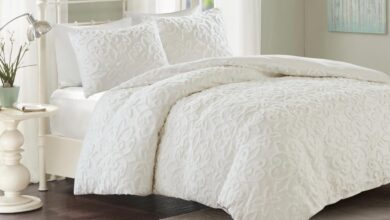 Sabrina Tufted Cotton Chenille 3-Piece Duvet Cover Set in 2 Colors - Queen / Taupe