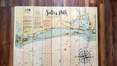 Salter Path, NC Statement Sized Pallet Map