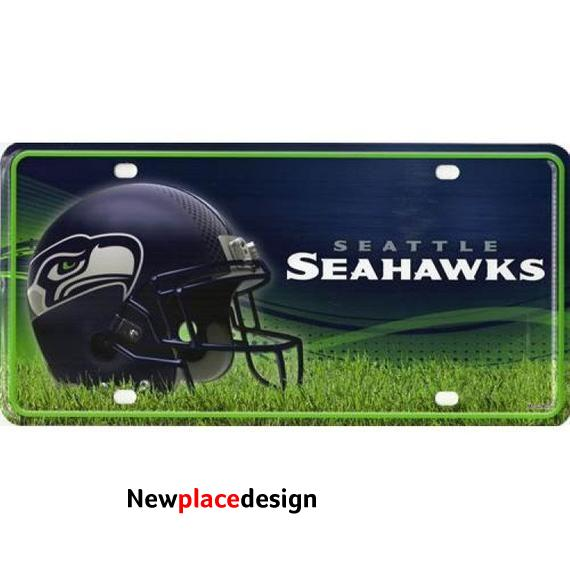 Seattle Seahawks Football Sports Personalized Custom License Vanity Plate Free Engraved Auto Car Tag