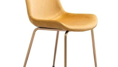 Set of 2 Yellow Gold Dining Chair Electroplated Steel Heavy Duty Stain Resistant