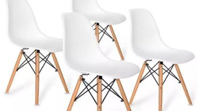 Sets of 4pcs or 6pcs Dining Chair sets Nordic Style Office Chair Kitchen Chairs Wooden Feet Dining room decor modern chair retro chair high