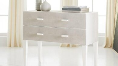 Shagreen Side Table In Textured Resin Cast With Two Drawers by Somerset Bay