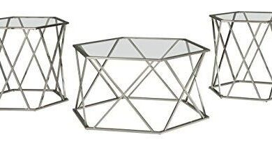 Signature Design by Ashley - Includes Cocktail Table & Two End Tables - Hexagonal Design / Set
