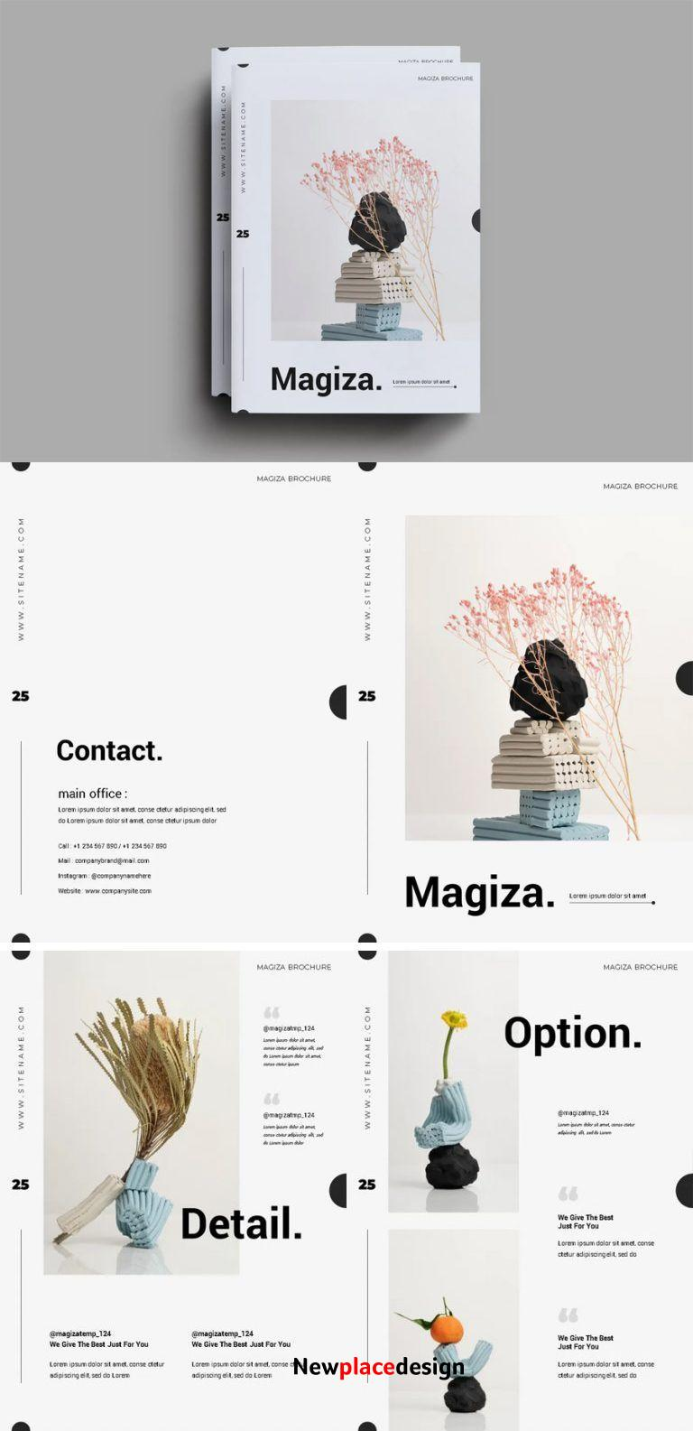 Simple Catalog Layout Design AI, EPS, INDD, PSD
