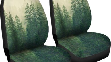 Sleeping Forest - Car Seat Covers - SLEEPING FOREST CARSEAT / Universal Fit