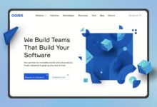 Software development company website - homepage / landing page