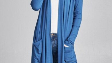 Solid Color Open Front Midi Cardigan - Teal / S