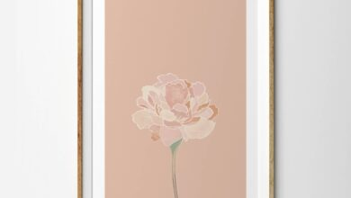 Spring Pink Single Stem Peony Flower - 4 x 6 inches
