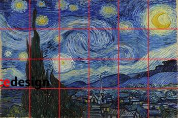 Starry Night Mural: Grid Drawing/Painting **BUNDLE**