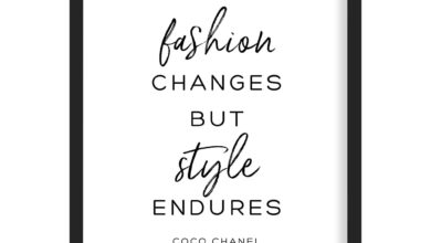 Style Coco Chanel Quote Art Print - A2 (420mm x 594mm) / Black Frame