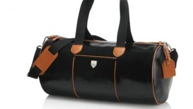 Sudbury Gym Bag - Black & Tan