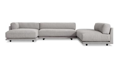 Sunday J Sectional Sofa w/ Chaise - Left / Agnew Grey
