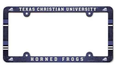 TCU Horned Frogs License Plate Frame - Full Color